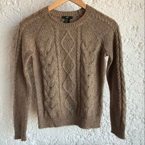 H&M Knit Long Sleeved Sweater Jumper shimmer XS
